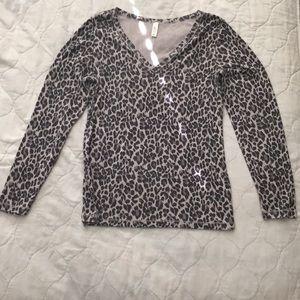 Leopard print shirt.